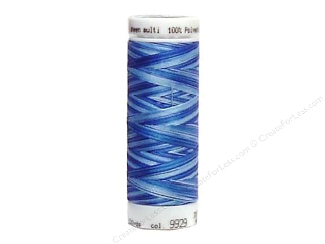 Mettler PolySheen Embroidery Thread 220 yd. #9929 Variegated Nautical Blues