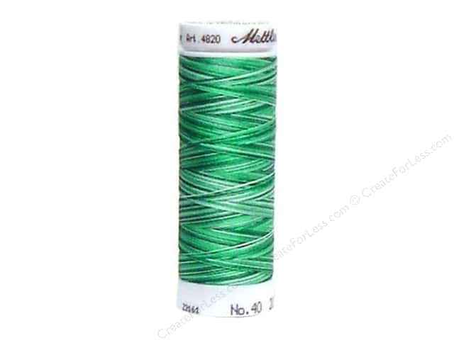 Mettler PolySheen Embroidery Thread 220 yd. #9931 Variegated Mint Leaves