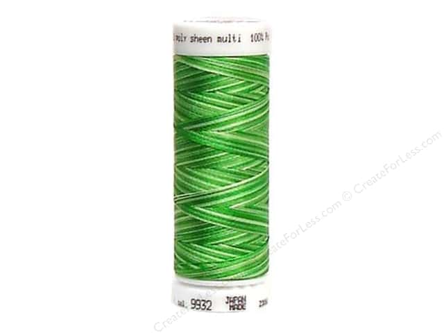 Mettler PolySheen Embroidery Thread 220 yd. #9932 Variegated Spring Grass