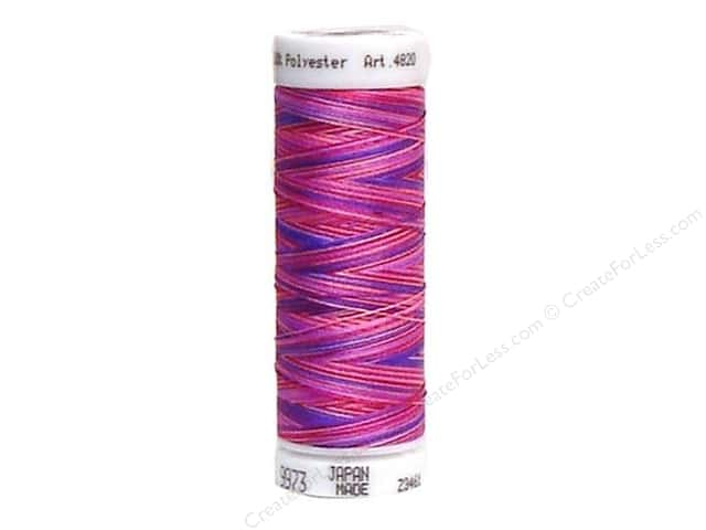 Mettler PolySheen Embroidery Thread 220 yd. #9973 Variegated Girl Bright