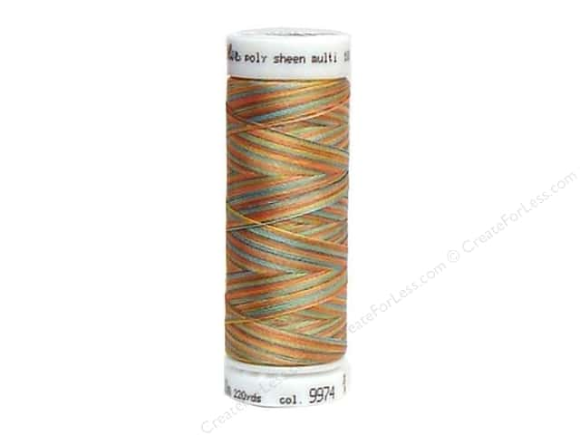 Mettler PolySheen Embroidery Thread 220 yd. #9974 Variegated Coastal Mix