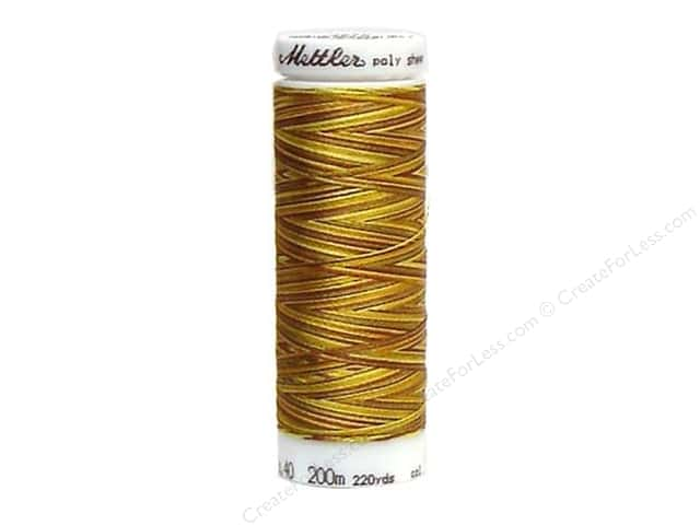 Mettler PolySheen Embroidery Thread 220 yd. #9975 Variegated Gold Harvest