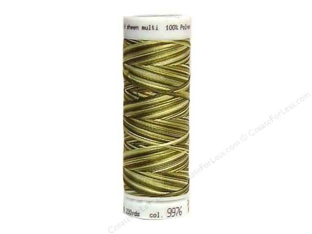 Mettler PolySheen Embroidery Thread 220 yd. #9976 Variegated Moss Tones