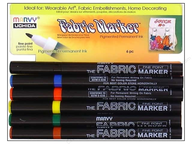 Uchida Fabric Marker Fine Point Set 6pc Primary