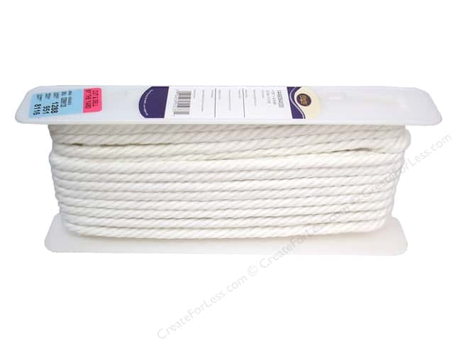 Wrights Cable Cord 3/8 in. White (12 yards)