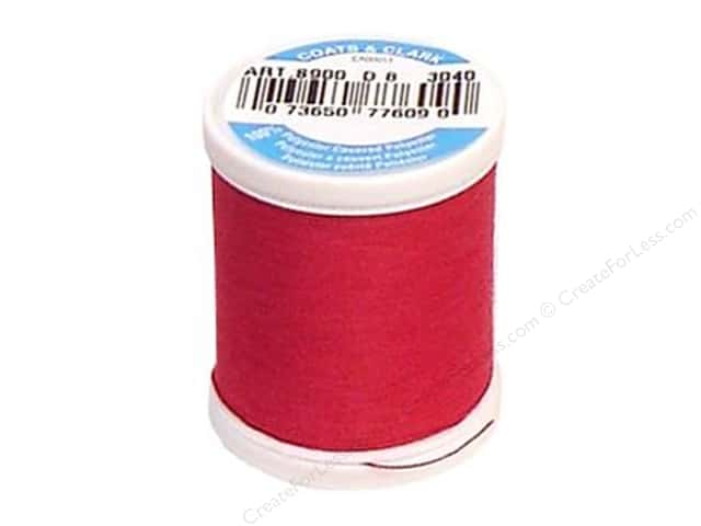 Coats & Clark Dual Duty XP All Purpose Thread 125 yd. #3040 Red Rose