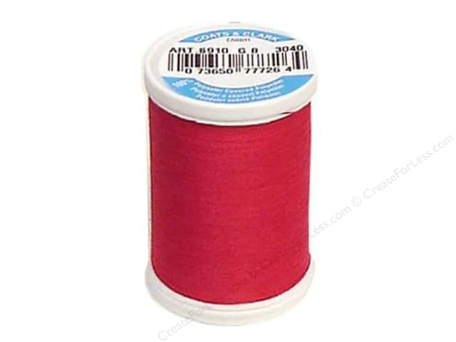 Coats & Clark Dual Duty XP All Purpose Thread 250 yd. #3040 Red Rose