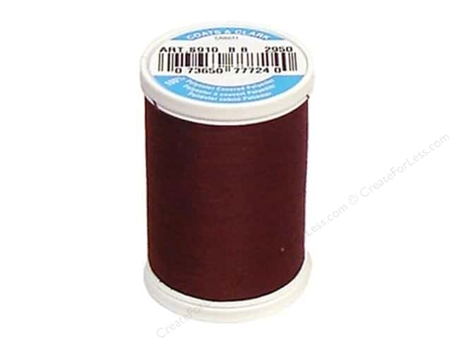 Coats & Clark Dual Duty XP All Purpose Thread 250 yd. #2950 Henna Brown