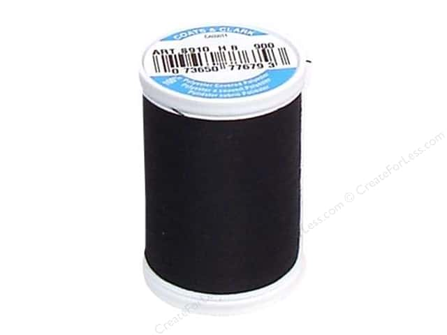 Coats & Clark Dual Duty XP All Purpose Thread 250 yd. #900 Black