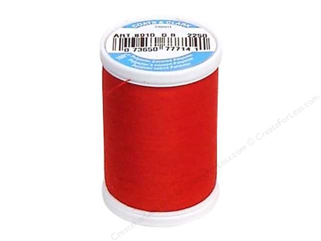 Coats & Clark Dual Duty XP All Purpose Thread 250 yd. #2250 Red