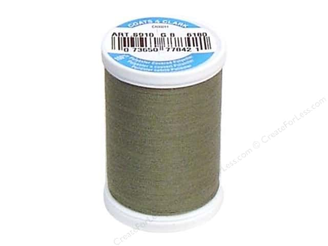 Coats & Clark Dual Duty XP All Purpose Thread 250 yd. #6180 Green Linen