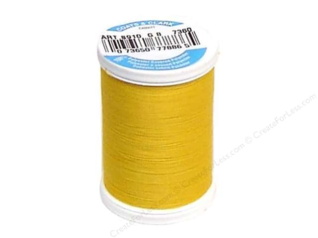 Coats & Clark Dual Duty XP All Purpose Thread 250 yd. #7360 Spark Gold