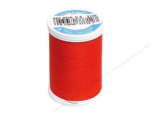 Coats & Clark Dual Duty XP All Purpose Thread 250 yd. #2170 Red Geranium