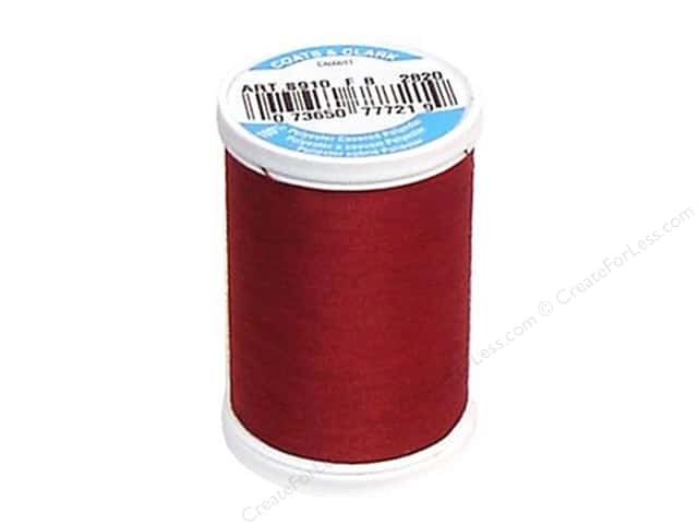 Coats & Clark Dual Duty XP All Purpose Thread 250 yd. #2820 Barberry Red