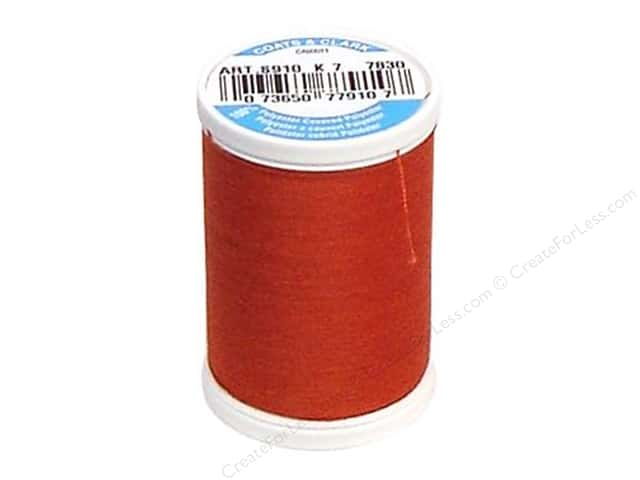 Coats & Clark Dual Duty XP All Purpose Thread 250 yd. #7830 Bright Rust