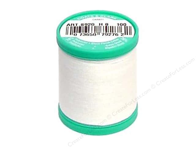 Coats & Clark Dual Duty Plus Button & Carpet Thread 50 yd. #1 White