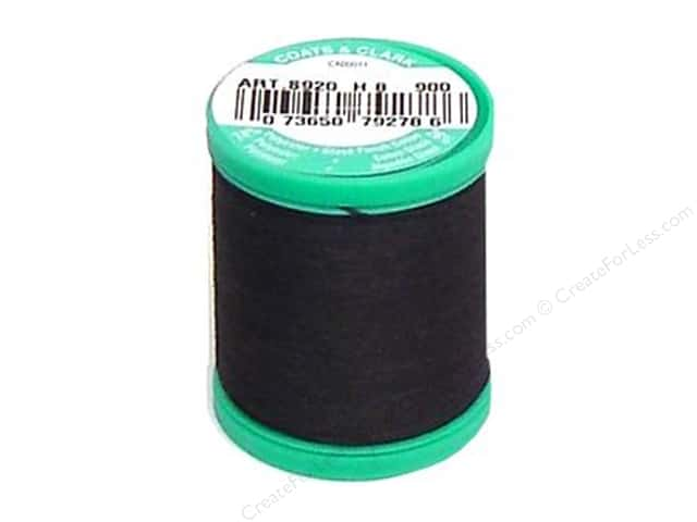 Coats & Clark Dual Duty Plus Button & Carpet Thread 50 yd. #2 Black