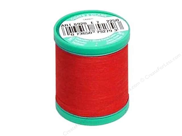 Coats & Clark Dual Duty Plus Button & Carpet Thread 50 yd. #128 Red