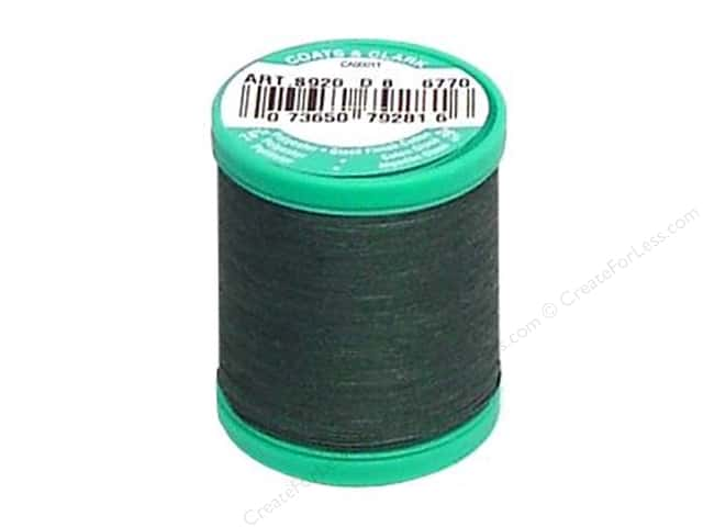 Coats & Clark Dual Duty Plus Button & Carpet Thread 50 yd. #61A Forest Green