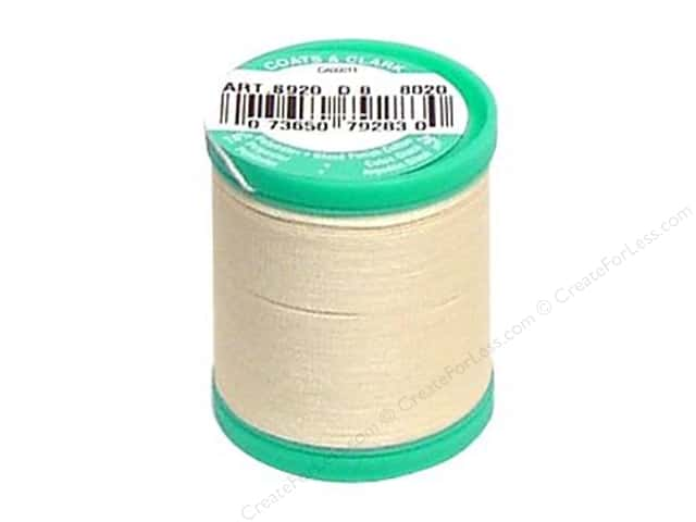 Coats & Clark Dual Duty Plus Button & Carpet Thread 50 yd. #116 Cream