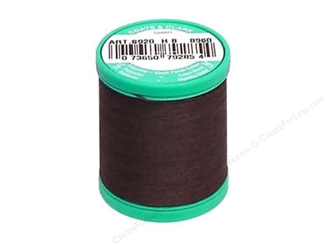 Coats & Clark Dual Duty Plus Button & Carpet Thread 50 yd. #51 Chona Brown