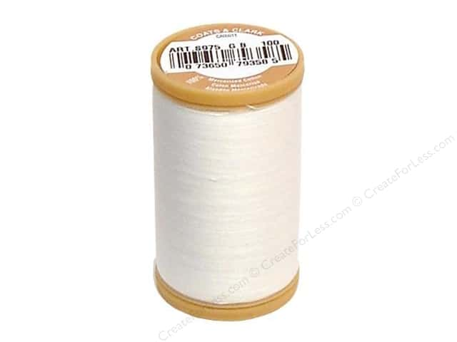 Coats Cotton Machine Quilting Thread #100 White 350 yd.