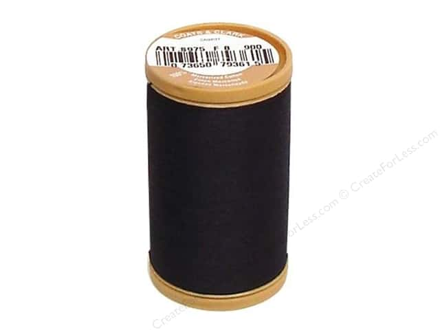 Coats Cotton Machine Quilting Thread #900 Black 350 yd.