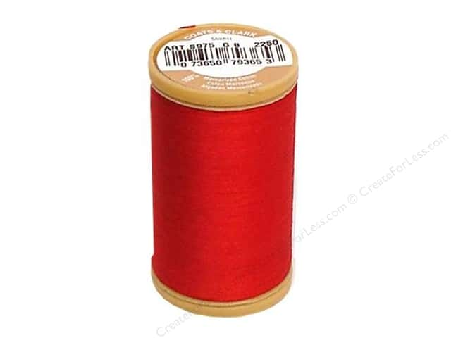 Coats Cotton Machine Quilting Thread #2250 Red 350 yd.