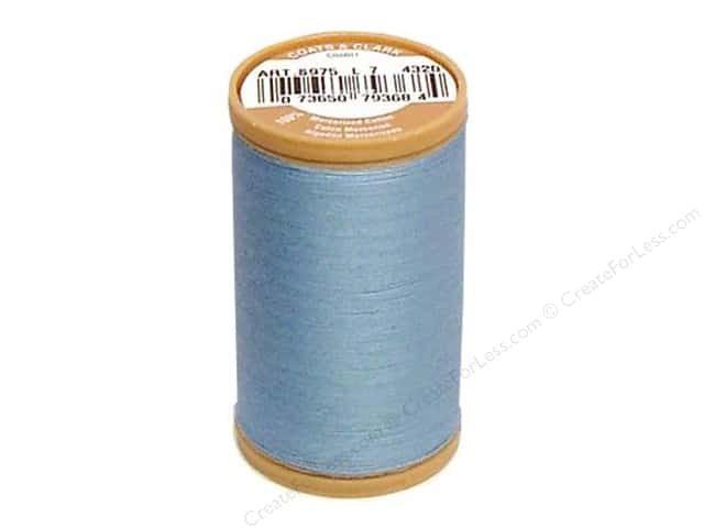 Coats Cotton Machine Quilting Thread #4320 Blue 350 yd.