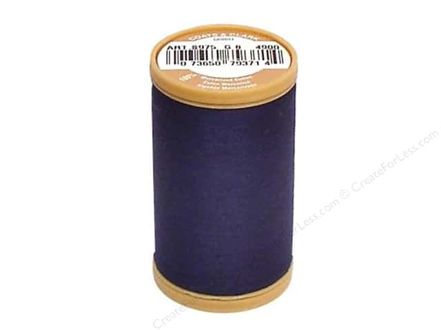 Coats Cotton Machine Quilting Thread #4900 Navy 350 yd.