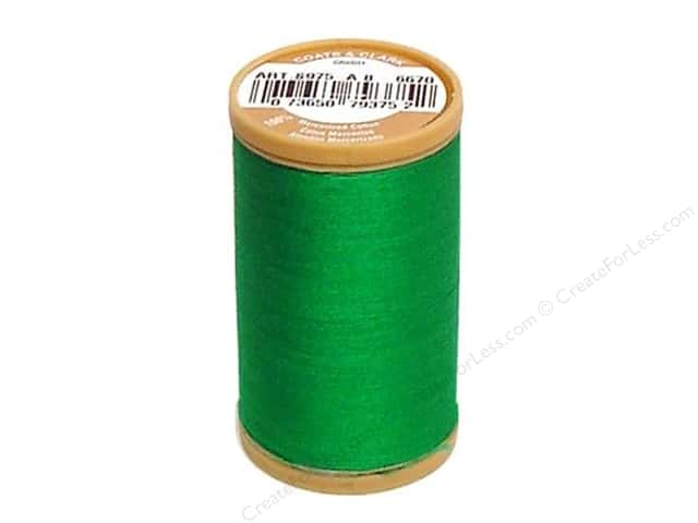 Coats Cotton Machine Quilting Thread #6670 Field Green 350 yd.