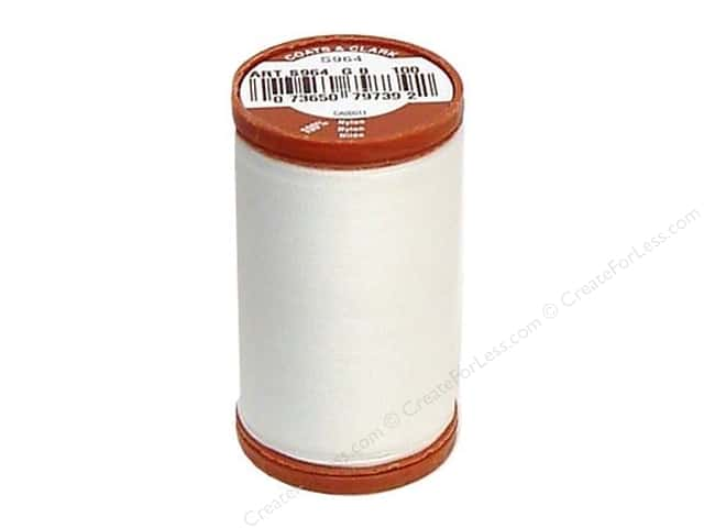 Coats Extra Strong Upholstery Nylon Thread 150 yd. #100 White
