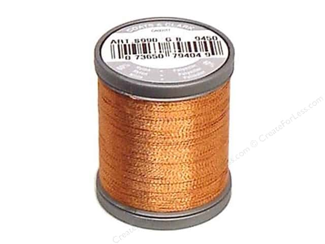 Coats Metallic Thread 125 yd. Copper
