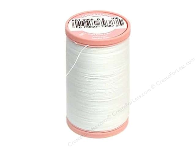 Coats Cotton Hand Quilting Thread 350 yd. #100 White