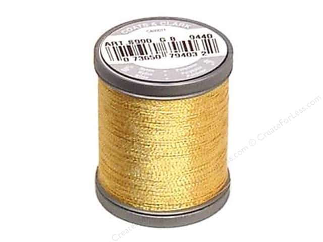 Coats Metallic Thread 125 yd. Gold