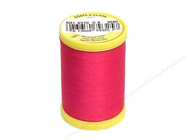 Coats All Purpose Cotton Thread 225 yd. #3040 Red Rose