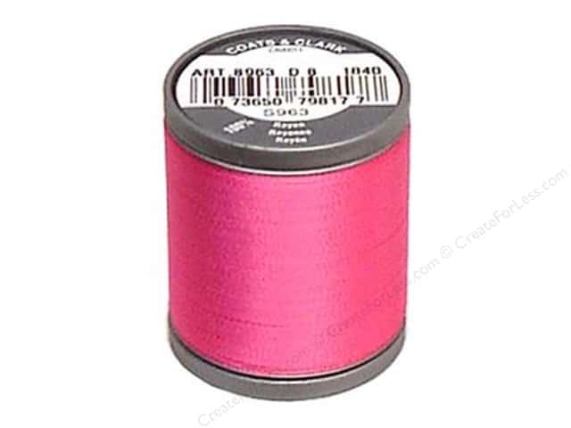 Coats Rayon Machine Embroidery Thread 225 yd. #1840 Hot Pink