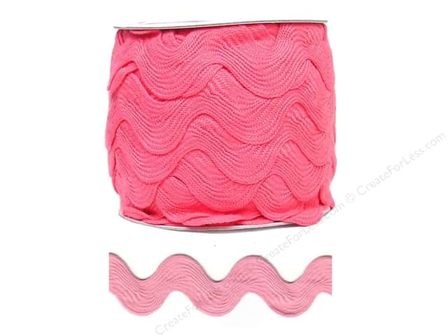 Jumbo Ric Rac by Cheep Trims  1 13/32 in. Bright Pink (24 yards)