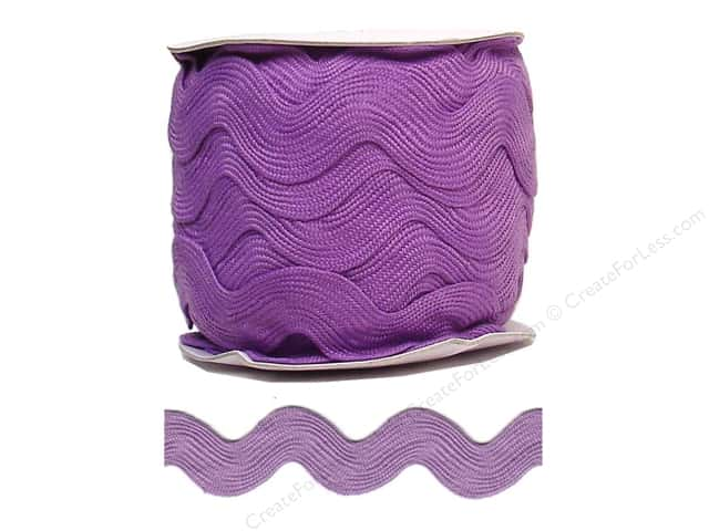 Jumbo Ric Rac by Cheep Trims  1 13/32 in. Lavender (24 yards)