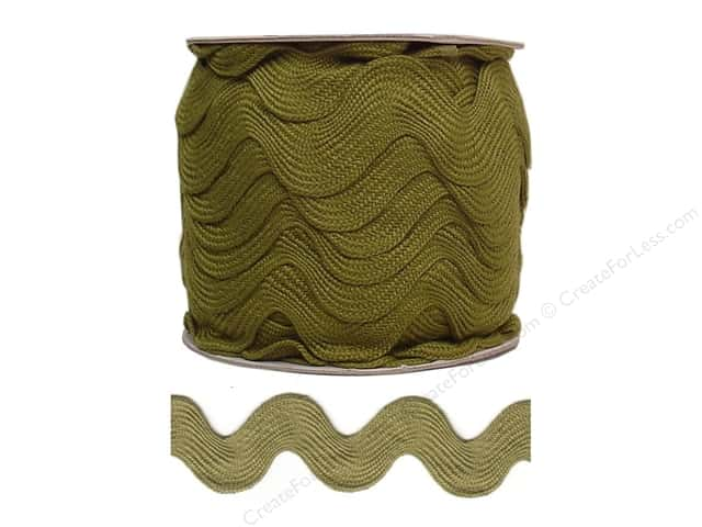 Jumbo Ric Rac by Cheep Trims  1 13/32 in. Olive (24 yards)