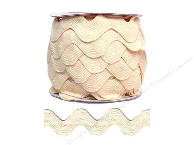 Jumbo Ric Rac by Cheep Trims  1 13/32 in. Ivory (24 yards)