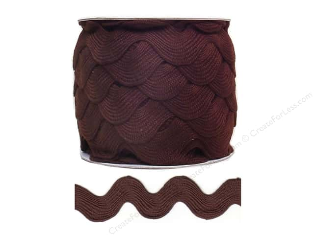 Jumbo Ric Rac by Cheep Trims  1 13/32 in. Brown (24 yards)