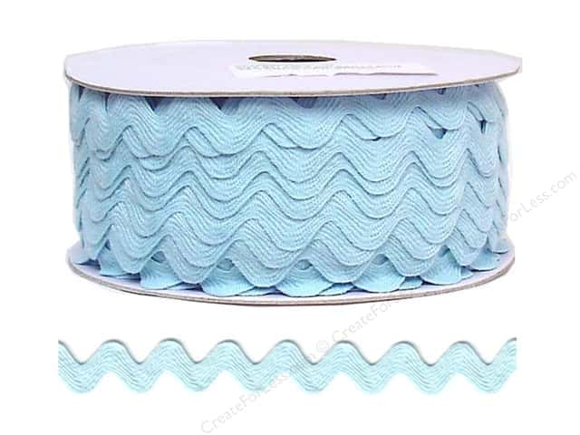 Cheep Trims Ric Rac 11/16 in. Light Blue