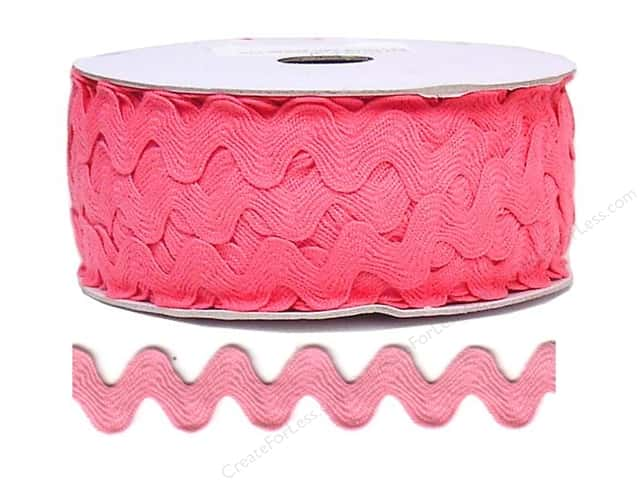 Cheep Trims Ric Rac 11/16 in. Bright Pink