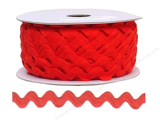 Cheep Trims Ric Rac 11/16 in. Red