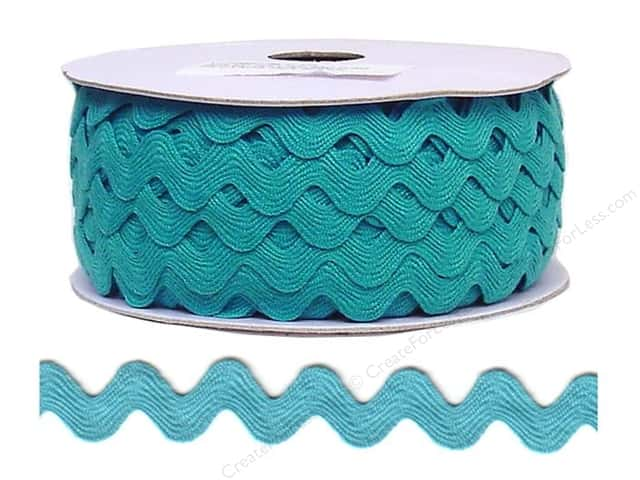 Cheep Trims Ric Rac 11/16 in. Turquoise