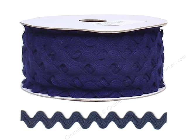 Cheep Trims Ric Rac 11/16 in. Navy Blue