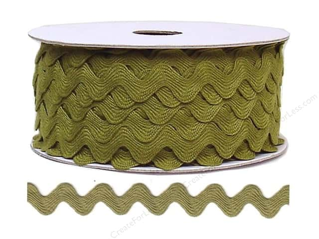 Cheep Trims Ric Rac 11/16 in. Olive