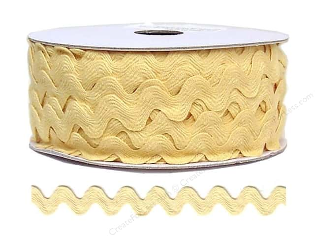 Cheep Trims Ric Rac 11/16 in. Butter