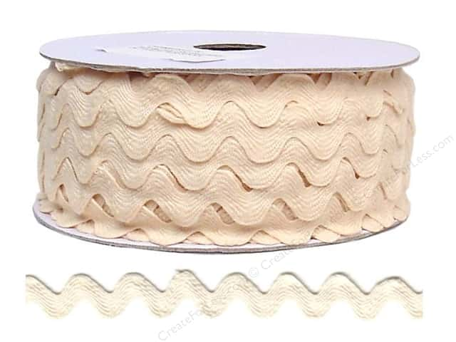 Cheep Trims Ric Rac 11/16 in. Ivory